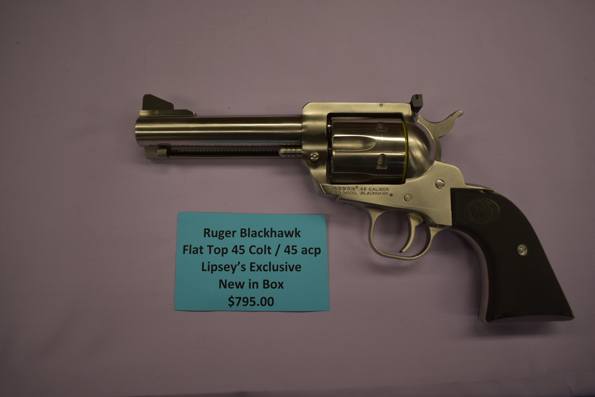 Brand NEW Ruger Blackhawk Flat Top Lipsey's Edition